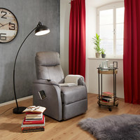 RELAXFÅTÖLJ - grå, Klassisk, metall/textil (73/110/94cm) - Modern Living