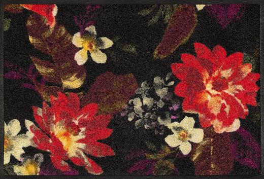 FUßMATTE 50/75 cm Floral Multicolor, Rot, Schwarz - Rot/Multicolor, Kunststoff/Textil (50/75cm) - Esposa