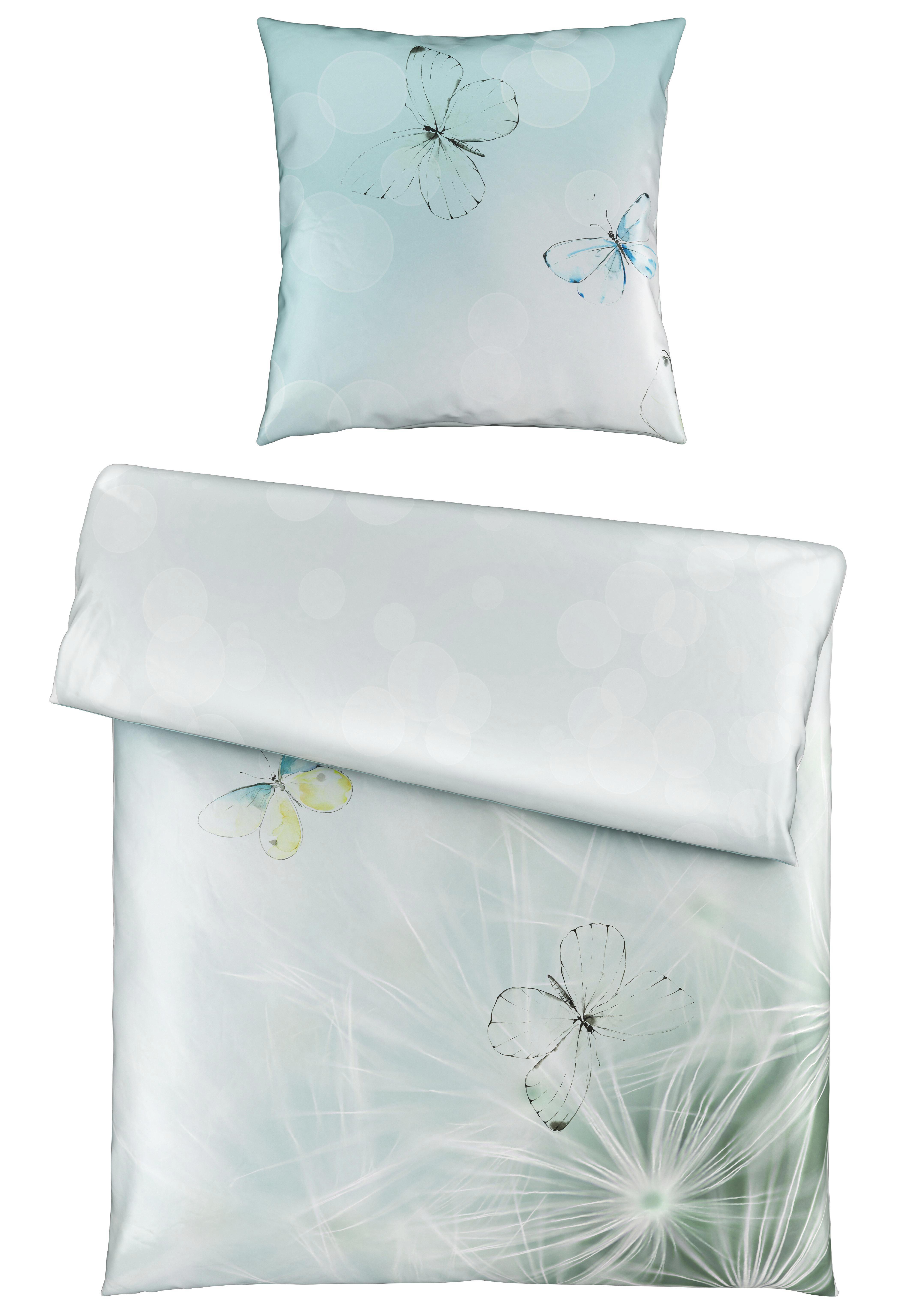 BETTWÄSCHE Satin Blau 135/200 cm - Blau, Basics, Textil (135/200cm) - NOVEL