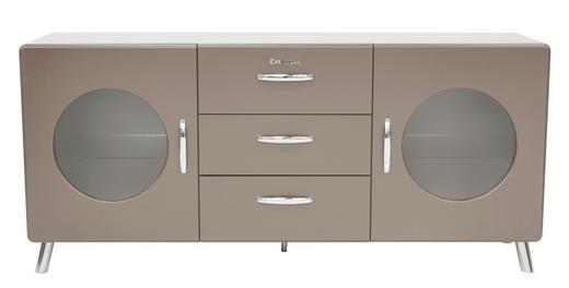 SIDEBOARD lackiert Grau - Chromfarben/Grau, Design, Glas/Metall (163/73/43cm) - Carryhome