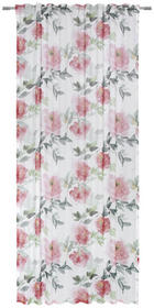 FERTIGVORHANG halbtransparent - Rot, Trend, Textil (135/245cm) - Esposa