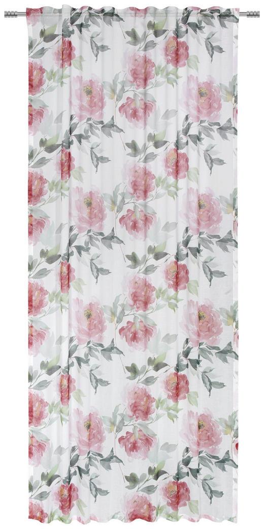 FERTIGVORHANG halbtransparent - Rot, Trend, Textil (135/245/cm) - Esposa