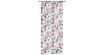 KONČANA ZAVESA DOLLY  pol prosojno  135/245 cm   - rdeča, Konvencionalno, tekstil (135/245cm) - Esposa