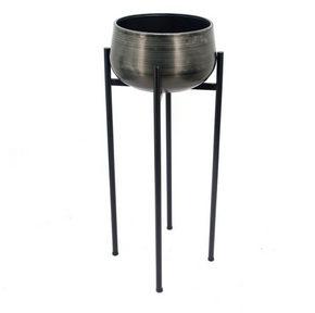 PLANTERINGSKRUKA - silver/grå, Design, metall (33/76,5cm) - Ambia Home