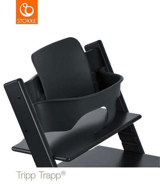 Tripp Trapp Baby Set Black - Schwarz, Basics, Kunststoff (43/19/22cm) - Stokke