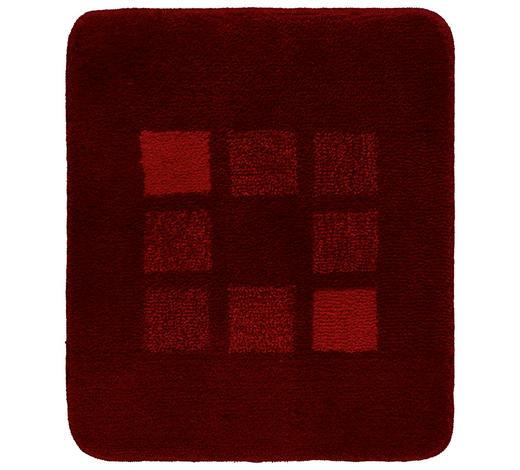 BADTEPPICH  Rot  50/60 cm     - Rot, KONVENTIONELL, Kunststoff/Textil (50/60cm) - Kleine Wolke