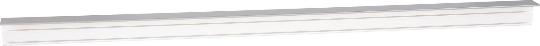 Vorhangschiene 150 cm - Weiß/Grau, KONVENTIONELL, Kunststoff (150/5/7.5cm) - Ombra