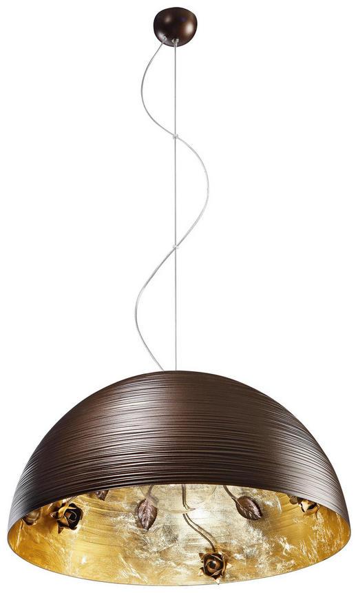 HÄNGELEUCHTE - Goldfarben/Braun, LIFESTYLE, Metall (50/25cm)