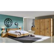 LOŽNICE, šedá, barvy dubu - šedá/barvy dubu, Design, dřevo/kompozitní dřevo (180/200cm) - Hülsta