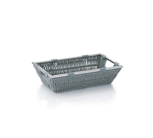 KORB  - Grau, Basics, Kunststoff (26/16/7cm) - Kela