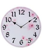 WANDUHR   - Pink/Weiß, Trend, Holzwerkstoff (33cm) - Ambia Home