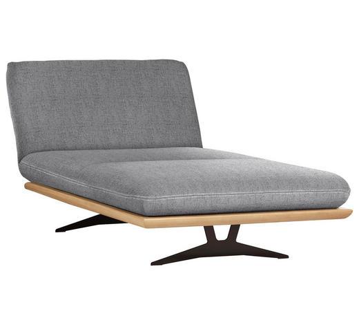 OTTOMANE in Holz, Textil Hellgrau - Beige/Hellgrau, Design, Holz/Textil (114/92/165-218cm) - Dieter Knoll