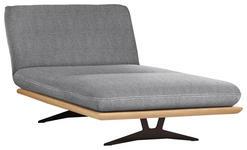 OTTOMANE Hellgrau - Hellgrau/Schwarz, Design, Holz/Textil (114/92/165-218cm) - Dieter Knoll