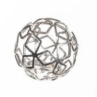 KOULE DEKORAČNÍ - barvy stříbra, Basics, kov (3/8/6cm) - Ambia Home