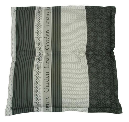 GARTENHOCKERAUFLAGE - Anthrazit/Creme, Design, Textil (50/8/50cm)