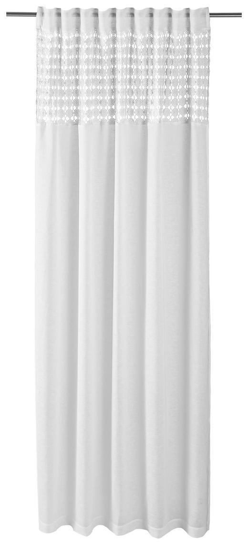 FERTIGVORHANG  blickdicht  140/255 cm - Weiß, LIFESTYLE, Textil (140/255cm) - Landscape