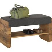 ŠATNÍ LAVICE - šedá/barvy dubu, Natur, dřevo/textilie (91/49/38cm) - Voglauer