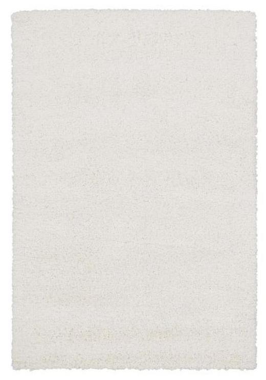 HOCHFLORTEPPICH  65/130 cm  gewebt  Weiß - Weiß, Basics, Textil (65/130cm) - Novel