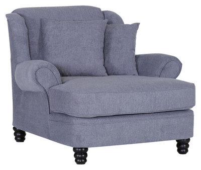 Livetastic BIG Sessel Flachgewebe Dunkelgrau