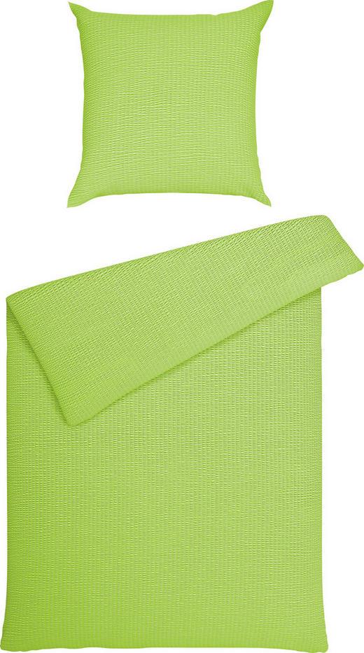 BETTWÄSCHE Seersucker Grün 135/200 cm - Grün, Basics, Textil (135/200cm) - Janine