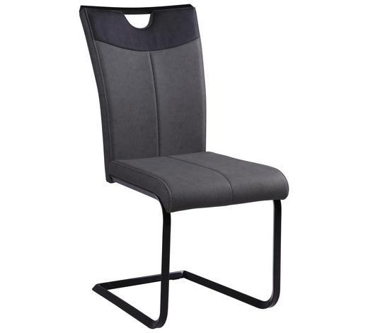 HOUPACÍ ŽIDLE, antracitová, šedá, černá - šedá/černá, Design, kov/textil (44/95.5/56cm) - Carryhome