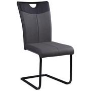 SCHWINGSTUHL Lederlook Anthrazit, Grau, Schwarz  - Anthrazit/Schwarz, Design, Textil/Metall (44/95.5/56cm) - Carryhome