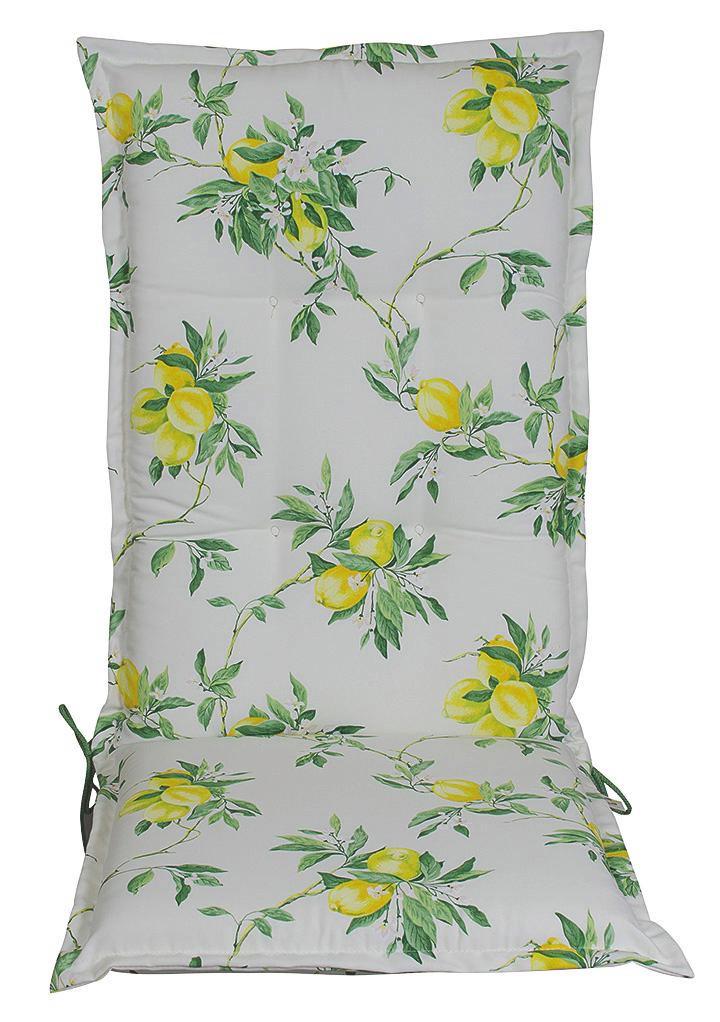 SESSELAUFLAGE Zitronen - Multicolor, KONVENTIONELL, Textil (50/9/120cm)