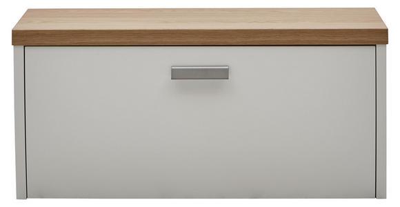HÄNGEELEMENT in Weiß, Eichefarben   - Eichefarben/Silberfarben, Design, Holz/Holzwerkstoff (92/42/31cm) - Dieter Knoll