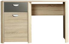 SCHREIBTISCH in Holzwerkstoff 130/74/58 cm  - Eichefarben/Anthrazit, Design, Holzwerkstoff (130/74/58cm) - Carryhome