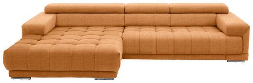 WOHNLANDSCHAFT in Textil Orange - Silberfarben/Orange, Design, Textil/Metall (190/335cm) - Beldomo Style