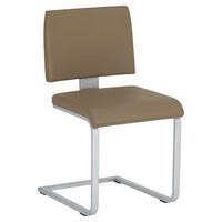 SCHWINGSTUHL Echtleder Grau, Nickelfarben - Grau/Nickelfarben, Design, Leder/Metall (47/86/57cm) - VOGLAUER