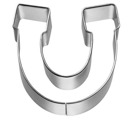KEKSAUSSTECHFORM - Edelstahlfarben, Basics, Metall (5,5/2,5/5,5cm) - Birkmann