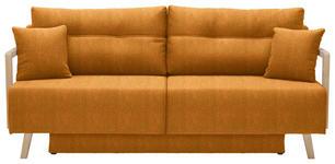 SCHLAFSOFA Currygelb - Currygelb/Naturfarben, KONVENTIONELL, Holz/Textil (200/92/95cm) - Venda