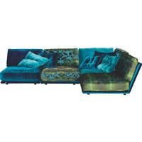WOHNLANDSCHAFT in Textil Multicolor - Multicolor/Schwarz, Design, Kunststoff/Textil (200/287cm) - Bretz