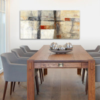 Abstraktes KEILRAHMENBILD - Multicolor, Basics, Holz/Textil (55/115/3,5cm) - EUROGRAPHICS