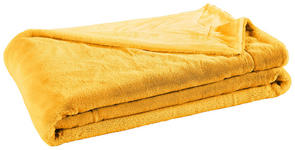 FELLDECKE 150/200 cm Honig  - Honig, Design, Textil (150/200cm) - Novel