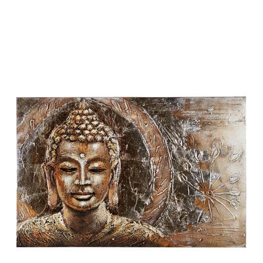 Zen BILD - Multicolor, LIFESTYLE, Holz/Textil (65/100cm) - Monee