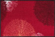 FUßMATTE 50/75 cm Graphik Rot - Rot, Kunststoff/Textil (50/75cm) - Esposa