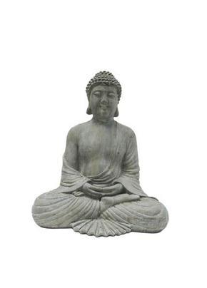 BUDDHA - grå, Lifestyle, plast (26,5/31/18cm) - Ambia Home
