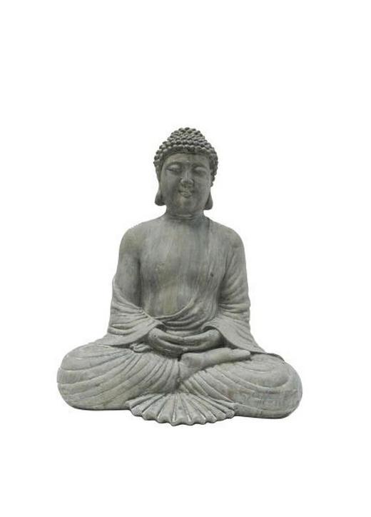 BUDDHA 26,5/31 cm - Grau, LIFESTYLE, Kunststoff (26,5/31cm) - Ambia Home