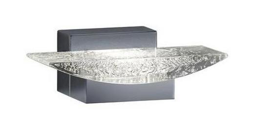 BADEZIMMER-WANDLEUCHTE - Chromfarben/Klar, Design, Kunststoff/Metall (6,0/18,0/10,5cm)