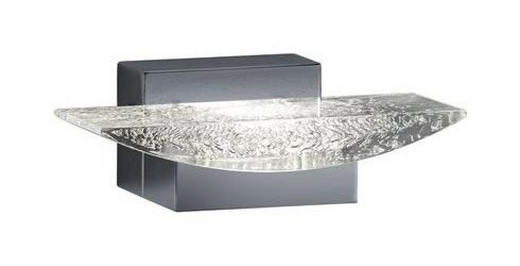 BADEZIMMER-WANDLEUCHTE - Klar/Chromfarben, Design, Kunststoff/Metall (6,0/18,0/10,5cm)