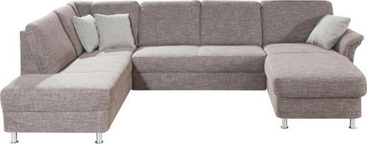 WOHNLANDSCHAFT Webstoff - Chromfarben/Braun, KONVENTIONELL, Kunststoff/Textil (164/301/200cm) - Xora
