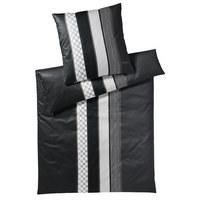 BETTWÄSCHE Makosatin Schwarz, Weiß 135/200 cm - Schwarz/Weiß, Basics, Textil (135/200cm) - Joop!