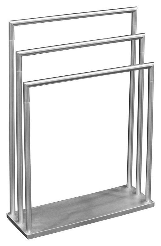 HANDTUCHSTÄNDER - Edelstahlfarben, Design, Metall (58/83/20cm)