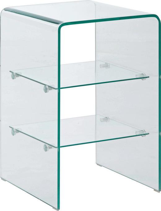 POMOĆNI STOLIĆ - prozirno, Design, staklo (40/60/40cm) - Boxxx