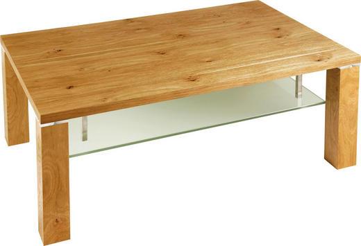 COUCHTISCH Asteiche furniert rechteckig Eichefarben - Eichefarben, Design, Glas/Holz (96/60/43cm) - Venda