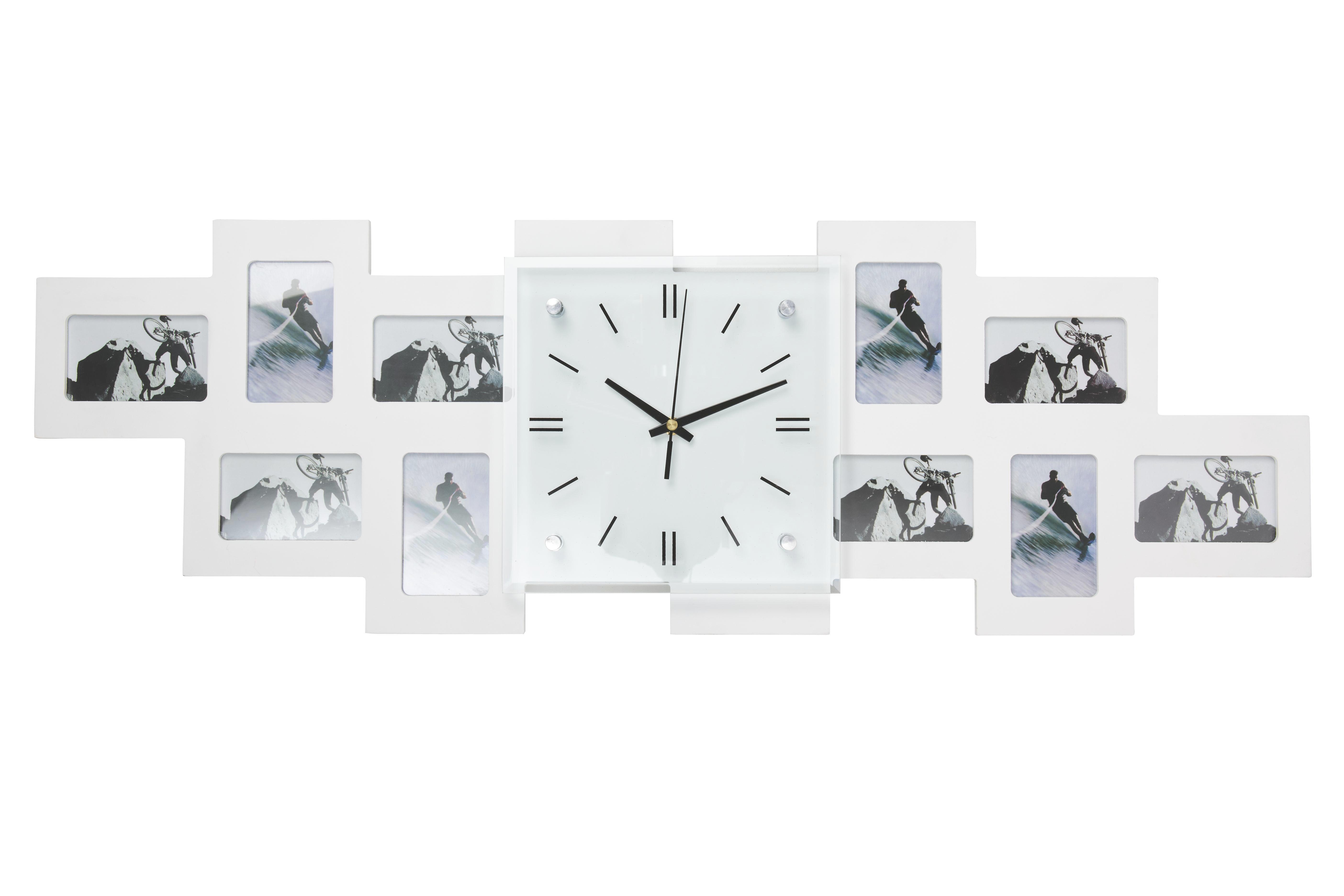 FOTOKLOCKA - vit, Basics, glas/trä (80/26/4,8cm) - Boxxx