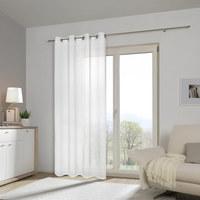 ÖSENVORHANG transparent  - Weiß, Basics, Textil (140/245cm) - Boxxx
