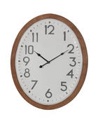 ZIDNI SAT - boje jasena/bijela, Basics, drvo/metal (53/64/3cm) - Ambia Home